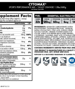 Cytosport- Cytomax Sports Performance Mix 1lb- Nutrition Facts