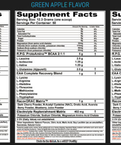 Millennium Sport Technologies- RPG IBCAA- Nutrition Facts