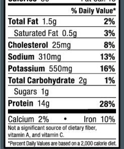 Ostrim- Beef & Ostrich Pepper Nutritional Label