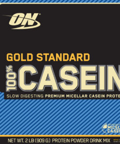 Optimum Nutrition- Gold Standard 100% Casein 2lb Cookies & Cream Label