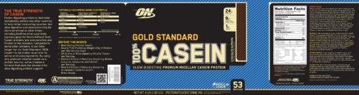 Optimum Nutrition- Gold Standard 100% Casein 4lb Chocolate Label