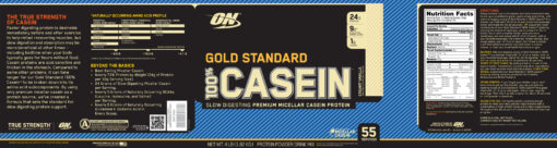 Optimum Nutrition- Gold Standard 100% Casein 4lb Vanilla Label