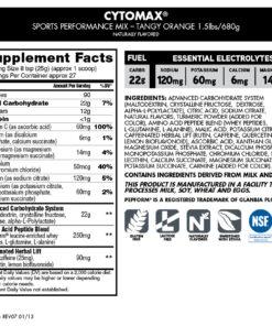Cytosport- Cytomax Sports Performance Mix 1lb- Nutrition Facts