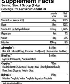 iForce Nutrition- Max Out- Nutrition Facts