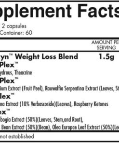 iForce Nutrition- Thermoxyn- Nutrition Facts